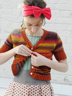 Ravelry: HometownKnits' Myrna Outfit Along // knit with Independence from Spincycle Yarns // colorway: Rusted Rainbow