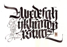 MB textur alphabet brush by Luca Barcellona - Calligraphy & Lettering Arts, via Flickr