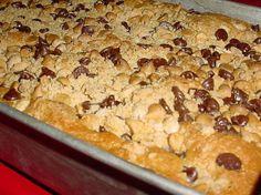 Peanut Butter Crunch Cake from Food.com: For my chocolate-peanut butter lovin' kids. This is a favorite of theirs.