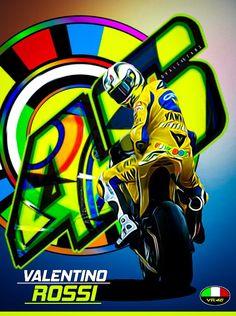 Valentino Rossi 46, Vr46, Neon Wallpaper, Car Wallpapers, Artwork, Graffiti Artists, Caps Hats, Paint, Work Of Art