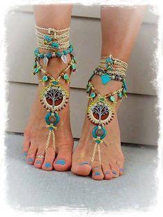 Coloridas sandalias descalzas - Szukaj w Google