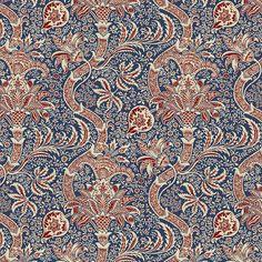 Free Spirit William Morris Montagu Indian Medici | Quilt Fabric Forest Crafts, Hancocks Of Paducah, Pink Sand Beach, Kitchen Fabric, Free Spirit Fabrics, Drapery Hardware, Beach Design, William Morris, Quilting Designs
