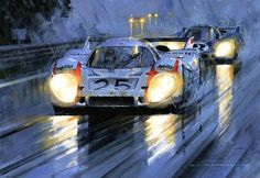 Le Mans 1970 Porsche 917-Art by Nicholas Watts.
