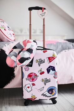 Saffron Barker's BACK! Primark - Saffron-Barker-The-Collection Cute Mini Backpacks, Stylish Backpacks, Girl Backpacks, My Bags, Purses And Bags, Cute Suitcases, Cute Luggage, Girls Luggage, Luggage Sets