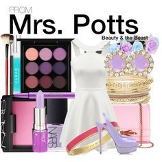 Beauty & the Beast by wearwhatyouwatch on Polyvore featuring Le Silla, Ted Baker, Kate Spade, MAC Cosmetics, NARS Cosmetics, Lime Crime, Smashbox, Becca, CLEAN and Topshop