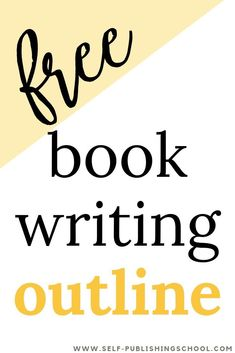 Write your novel with this book writing novel! Organize your plot development, get clear on your book& storyline, and avoid writer& block. A book writing outline for any author! Writing Images, Book Writing Tips, Pre Writing, Fiction Writing, Writing Resources, Writing Help, Writing Ideas, Writing Courses, Writing Process