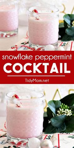 Celebrate the season with this creamy and festive Snowflake Peppermint Cocktail. The perfect winter cocktail to make all of your dreams of a white Christmas come true! Winter Cocktails, Fun Cocktails, Cocktail Recipes, Cocktail Drinks, Party Drinks, Drink Recipes, Christmas Brunch, Christmas Drinks, Holiday Drinks