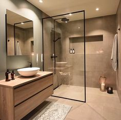 INSPIRATIONAL MONDAY brings lovely interior design inspiration every Monday. Are you ready? The first amazing bathroom makeover belongs… Modern Bathroom Design, Bathroom Interior Design, Modern Interior Design, Interior Design Inspiration, Design Ideas, Online Furniture Stores, Furniture Shopping, Amazing Bathrooms, Bathroom Inspiration