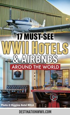 These WWII hotels and Airbnbs offer unique stays in historic World War II spaces like submarines, bunkers, train cars, and many more!