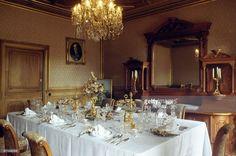 Kaiservilla salone da pranzo Austria, Table Settings, Sissi, Amelie, Czech Republic, Emperor, Place Settings, Bohemia, Amelia