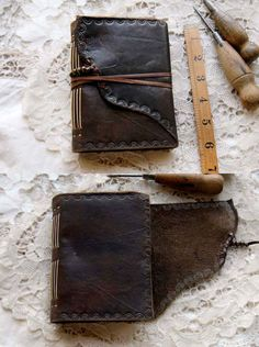 The Traveler Dark Brown Leather Journal Hand by bibliographica
