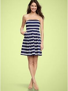 gap sateen striped dress