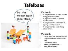 Rollen bij groepswerk of coöperatief leren duidelijk uitgelegd: de tafelbaas. #werkvormen #onderwijs Skills To Learn, Word Search, Teaching, Words, Stage, Playmobil, Learning, Education, Scene