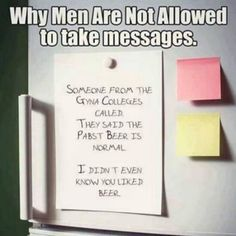 Why men are not allowed to take messages