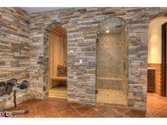 Stone Shower and Sauna