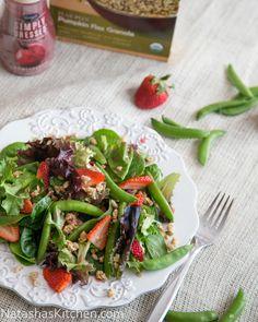 Strawberry ~ Snap Pea Salad With Pomegranate Vinaigrette Dressing (Marzetti)