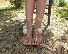 Etsy - Shop for handmade, vintage, custom, and unique gifts for everyone Bare Foot Sandals, Gladiator Sandals, Grecian Wedding, Bridal Sandals, Wedding Store, Jeweled Sandals, Fashion Sandals, Ivoire, Anklet