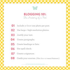 Stephanie Creekmur   A paper boutique specializing in personalization and southern charm: Blogging 101   The Anatomy of a Post