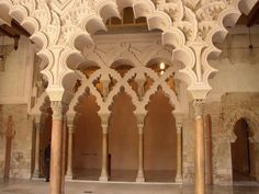 The fabled Alhambra Palace in Granada, Spain with its Moorish architecture and intricate sculpture - not to be missed!