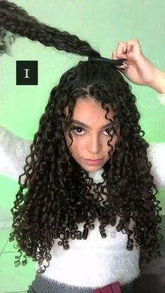 Hairdos For Curly Hair, Curly Hair Styles Easy, Curly Hair Types, Curly Hair Care, Natural Hair Styles, Long Hair Styles, 3a Hairstyles, Pretty Hairstyles, Curly Hair Tutorial