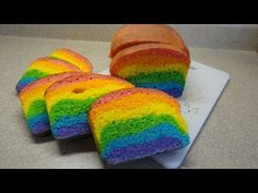 How To Make Rainbow Bread. This looks like so much fun to make and eat! Nice video with clear instructions also provided in the description. Make boring sandwiches fun!