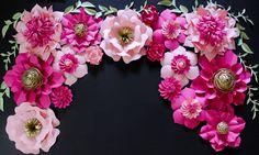 Kate Spade Inspired Paper Flower Backdrop, Wedding Backdrop, Giant Paper Flowers