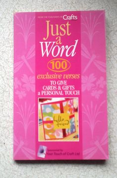 DESTASH  Just a Word by CrowCottageCrafts on Etsy, $3.00