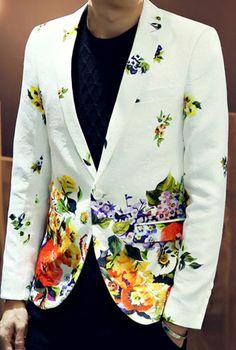 cool floral blazer!