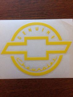 Custom Chevy Decal by OTWdecals on Etsy, $5.00