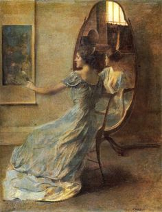 Thomas Wilmer Dewing Before the Mirror, c_ 1808-1910