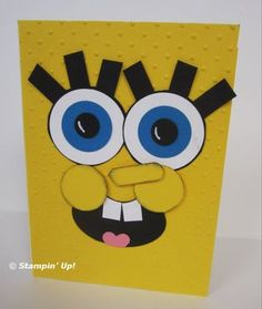 Punch art sponge bob--my niece and nephew would LOVE this.  This website has a bunch of great punch art!