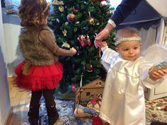 disfraz reno y angelito casero