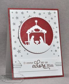 Let Us Adore Him by atsamom - Cards and Paper Crafts at Splitcoaststampers
