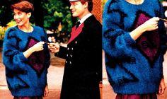 Tidløst og smuk inkasweater bragt i 1989 i Hendes Verden.