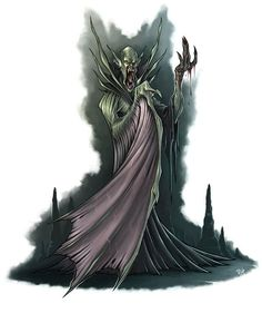 """Another NPC for the french RPG """"Les Chroniques Oubliées"""". Fantasy Story, Fantasy Series, Fantasy Rpg, Dark Fantasy, Fantasy Monster, Monster Art, Warhammer Vampire Counts, The Black Cauldron, Cool Monsters"""
