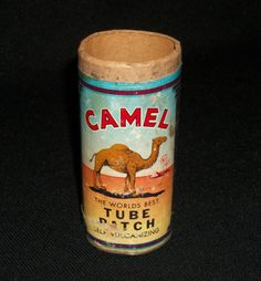 CAMEL 1946 Vintage Tube Patch Kit . No Lid or Contents, has Damage. $9.99 obo (Free S&H)