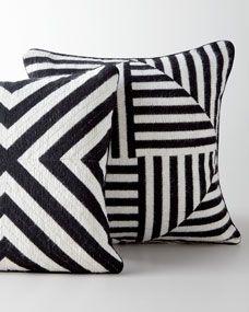 Jonathan Adler Black-and-White Bargello Pillows