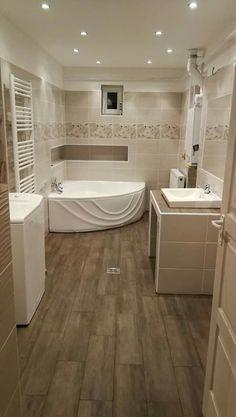 Best Bathroom Designs, Bathroom Design Small, House Rooms, Corner Bathtub, Home Art, Sweet Home, House Design, Living Room, Interior Design