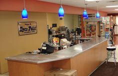 A commercial stainless steel countertop fabrication and installation in Elgin, IL.