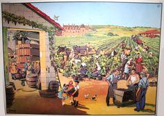 La vigne (affiche scolaire) Vintage Poster, Vintage Prints, French School, School Posters, School Boy, Farm Animals, French Vintage, Illustration, Harvest