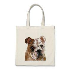 English Bulldog Tote Bags