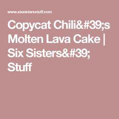 Copycat Chili's Molten Lava Cake | Six Sisters' Stuff