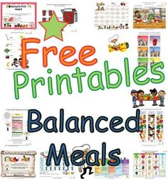 Fun+educational+sheets+to+help+children+learn+about+the+five+food+groups+creating+balanced+meals.+