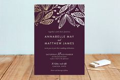 Belle Foil-Pressed Wedding Invitations by robin ott design at minted.com