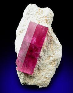 (Bixbite) Red Beryl on Matrix from Violet Claims, Wah Wah Mountains, Utah.