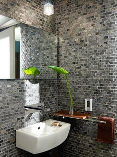 parede diferente banheir