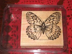 STAMPIN UP Rubber Stamp STIPPLE BUTTERFLY Beautiful Sketch RETIRED 2000