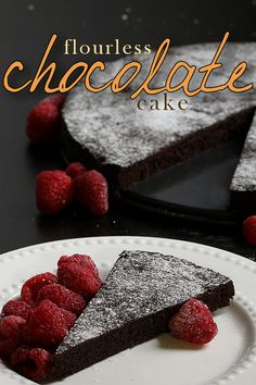 You won't miss the flour in this decadent, rich chocolate cake recipe! Since it's flourless, it's gluten free & low carb. Have a slice as a healthy snack at the end of a long day and relax! www.tasteaholics.com