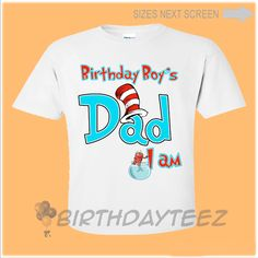 Dad Cat in The Hat Birthday Shirt #cat-in-the-hat #cat-in-the-hat-shirt #dad