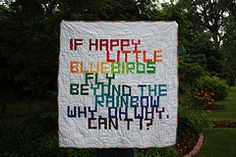 quilt with only words, neat